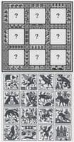 Long Dog Samplers 16 ÷ 9 = Dilemma! printed cross stitch chart - LD104